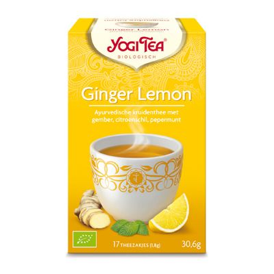 Ginger-lemon tea van Yogi Tea, 6 x 17 blt