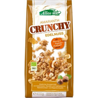 Crunchy amaranth triple nut van Allos, 6 x 400 g