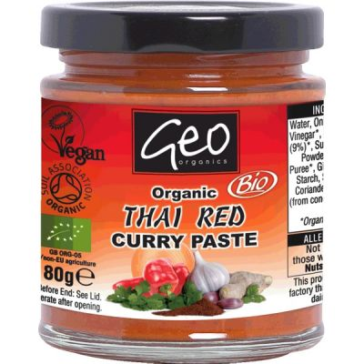 Curry paste thai red van Geo Organics, 6 x 180 g