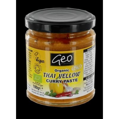 Curry paste thai yellow van Geo Organics, 6 x 180 g
