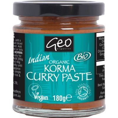 Curry paste korma van Geo Organics, 6 x 180 g