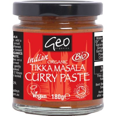 Curry paste tikka masala van Geo Organics, 6 x 180 g