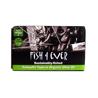 Geelvin-tonijnfilet (olijfolie) van Fish 4 Ever, 10x 120 gr