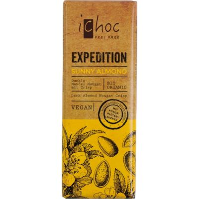 Chocolarepen Expedition sunny almond van iChoc, 15x 50 g