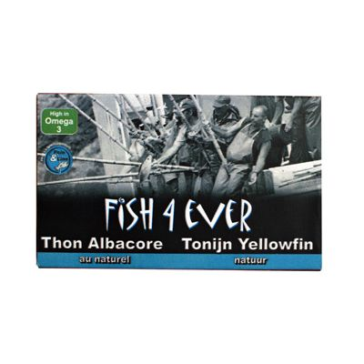 Geelvin-tonijn in water van Fish 4 Ever, 10x 120 gr