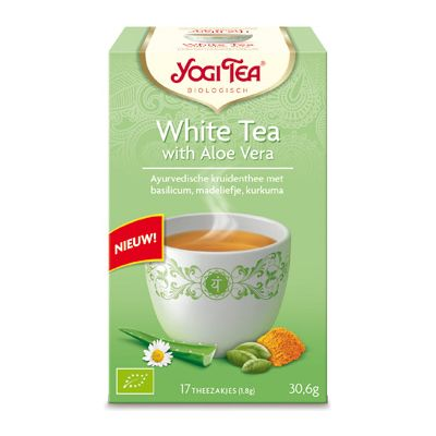 White tea aloe vera van Yogi Tea, 6 x 17 builtjes