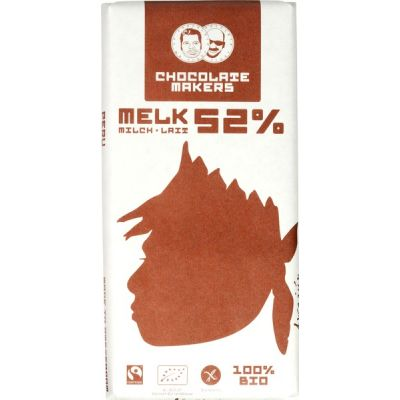 Awajun bar 52% melk van Chocolatemakers, 10 x 85 g