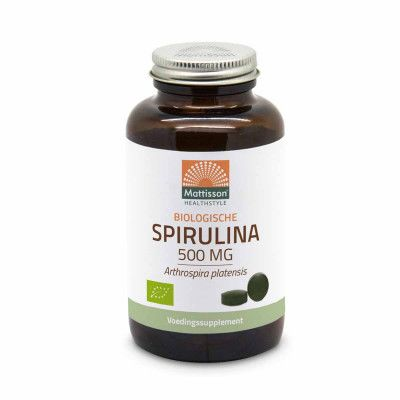 Absolute spirulina 500mg van Mattisson, 1 x 240 stk