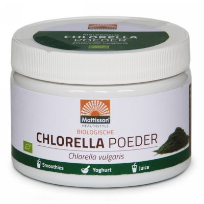 Absolute chlorella poeder raw van Mattisson, 1 x 125 g