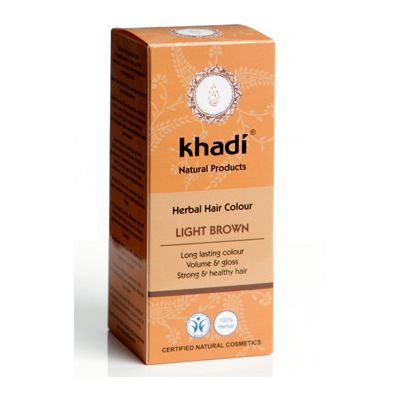 Hair colour light brown van Khadi, 1x 100 g