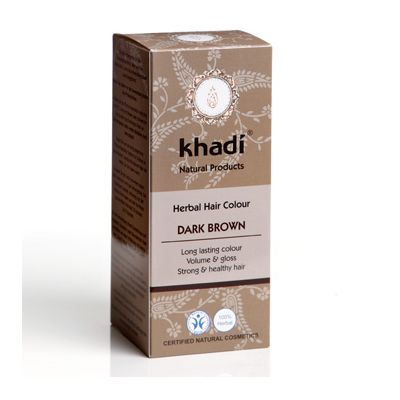 Hair colour dark brown van Khadi, 1x 100 g