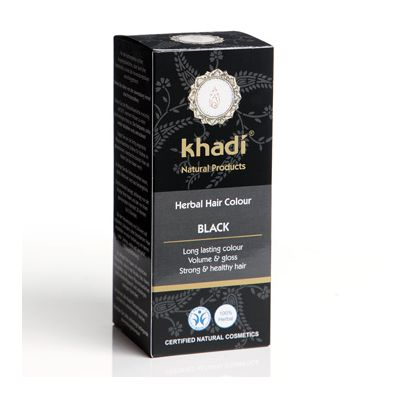 Hair colour black van Khadi, 1x 100 g