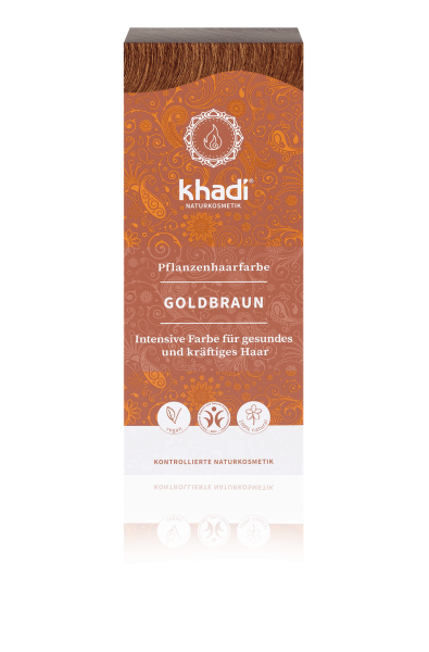 Golden brown hair colour van Khadi, 1 x 100 g