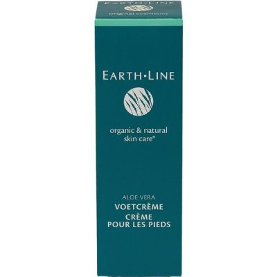 Aloe vera voetcrème van Earth Line, 1x 100ml