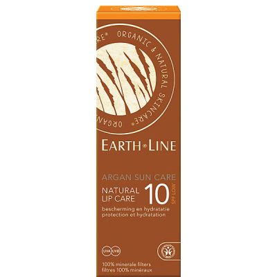 Argan sun care natural lip care SPF 10 van Earth Line, 1x 10ml