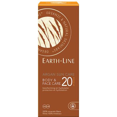 Argan sun care body & face SPF 20 van Earth Line, 1x 150ml