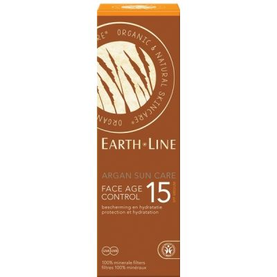Argan sun care face age control SPF 15 van Earth Line, 1x 50ml