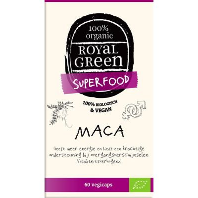 Maca van Royal Green, 1x 60 capsules.