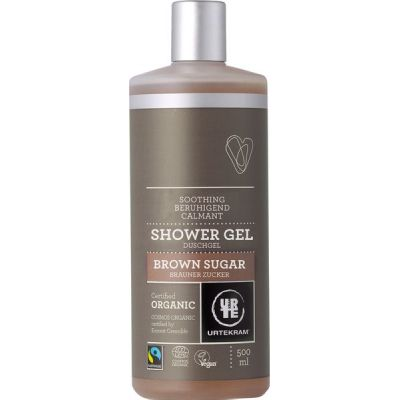 Brown sugar shower gel (fair trade) van Urtekram, 1x 500 ml