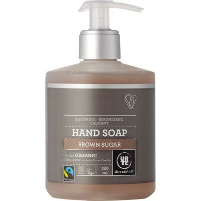 Brown sugar shower liquid hand soap (fair trade) van Urtekram, 1
