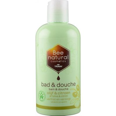 Bad en douche olijf & citroen van De Traay Bee Natural, 1x 250ml