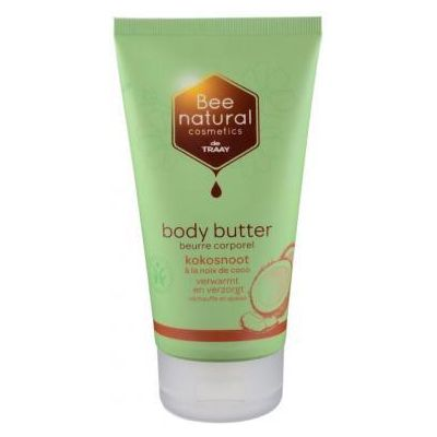 Body Butter Kokosnootvan Traay Bee Natural, 1x 150 ml.