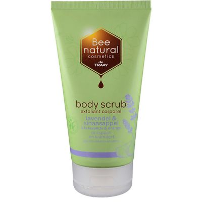 Bodyscrub lavendel & sinaasappel van Bee Honest, 1x 150ml.