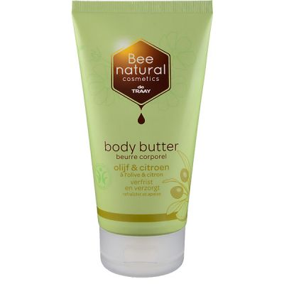 Body butter olijf & citroen van Bee Honest, 1x 150ml.
