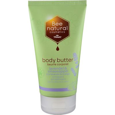 Body butter lavendel & sinaasappel van Bee Honest, 1x 150ml.