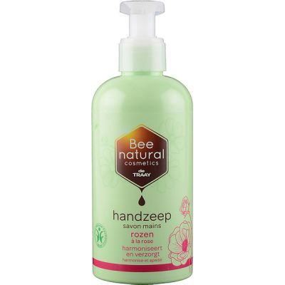 Handzeep rozen van Bee Honest, 1x 250ml
