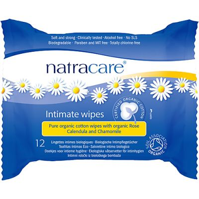 Intimate wipes van Natracare, 1x 12 st