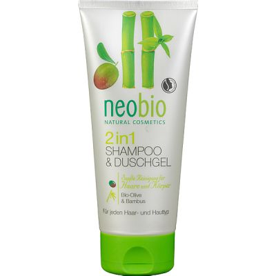 2 in 1 shampoo & douchegel van Neobio, 1x 200ml