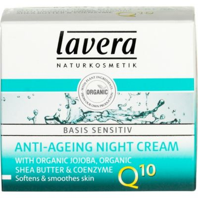 Anti-ageing Night Cream Q10 van Lavera, 50 ml.