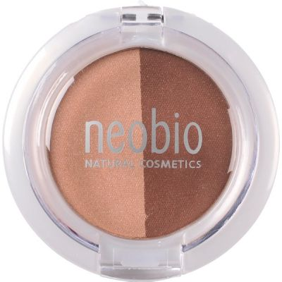 Eyeshadow duo 02 brown champagne van Neobio, 1x 2,5gr