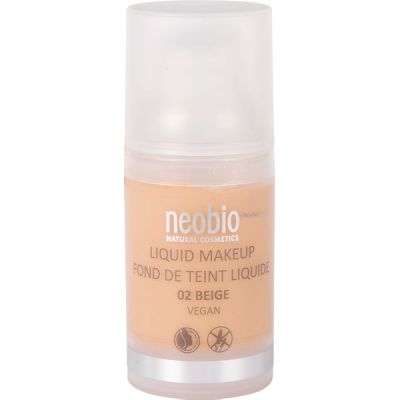 Liquid make up 02 beige van Neobio, 1x 30ml