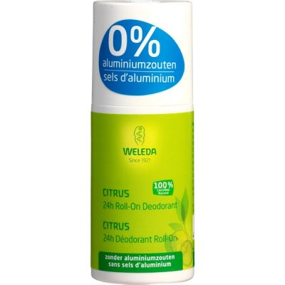 Citrus 24H roll-on deodorant van Weleda, 1 x 50 ml