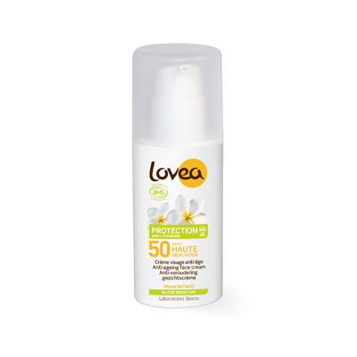 Anti age face cream SPF 50 van Lovea, 1 x 50 ml