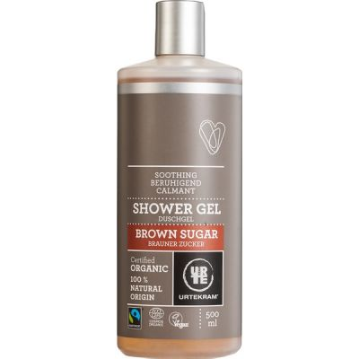 Brown sugar shower gel van Urtekram, 1 x 500 ml