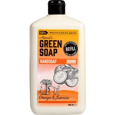 Navul handzeep orange & jasmine van Marcel's Green Soap, 1 x 1 l