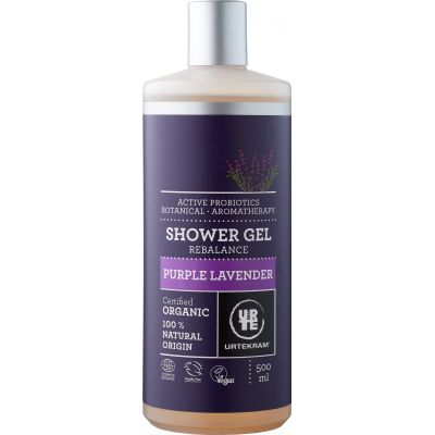 Purple lavender shower gel van Urtekram, 1 x 500 ml