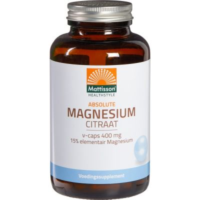 Active magnesium-citraat van Mattisson, 1 x 400 ml