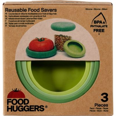Food savers soft green van Foodhuggers, 1 x 3 stk