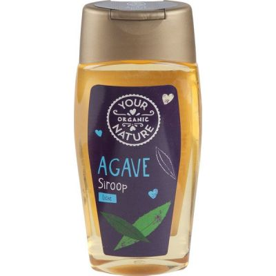 Agavesiroop licht van Your Organic Nature, 8 x 250 ml