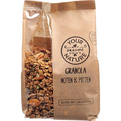 Granola noten & pitten van Your Organic Nature, 6x 375 g
