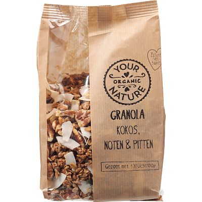 Granola kokos, noten & pitten van Your Organic Nature, 6x 375g