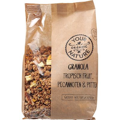 Granola tropisch fruit, noten & pitten van Your Organic Nature,