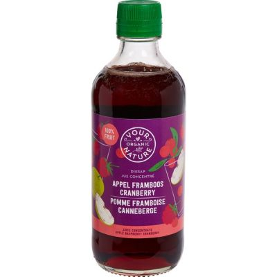 Diksap appel-framboos-cranberry van Your Organic Nature, 6 x 400