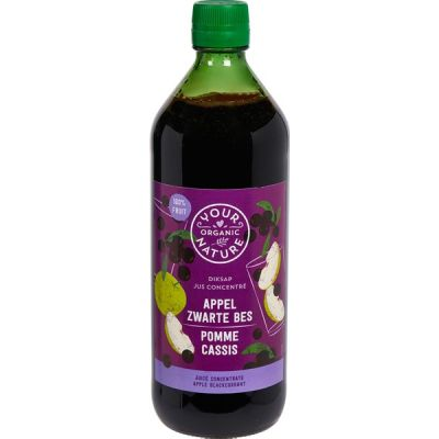 Diksap appel-zwarte bes van Your Organic Nature, 6 x 750 ml