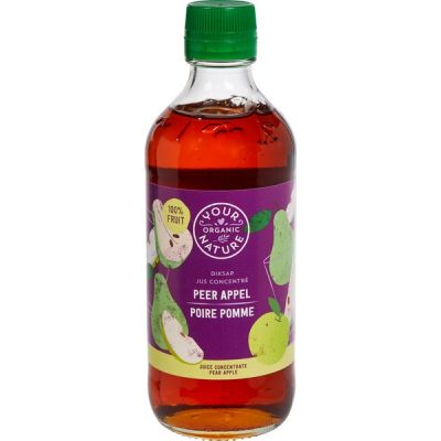 Diksap peer-appel van Your Organic Nature, 6 x 400 ml