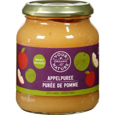 Appelpuree ongezoet van Your Organic Nature, 6 x 360 g